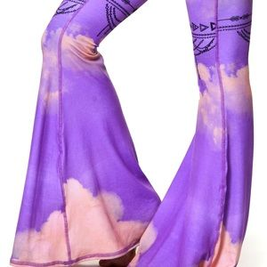New Teeki purple haze  bell bottoms
